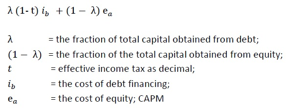 Assignment 2: The Weighted Average Cost of Capital